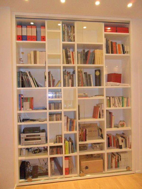 Libreria Chiusa Con Ante In Vetro.Mobili Segato Librerie
